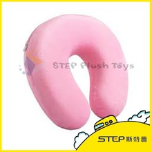 Best made promotional logo printed memory foam U shape travel neck pillow