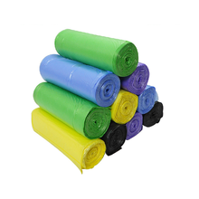 Professional manufacuturer Colored Garbage plastic trash bags on roll