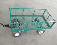 go cart four wheels heavy duty industrial folding garden wagon tool cart welding mesh cart TC1840A