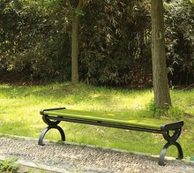 hot sale composite wood backless park benches