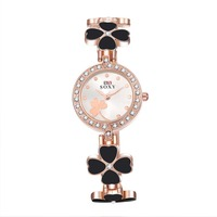 SJWH0013A SJ Beautiful Heart Shape Clover Pave Crystal Fashion Women Ladies Quartz Watch