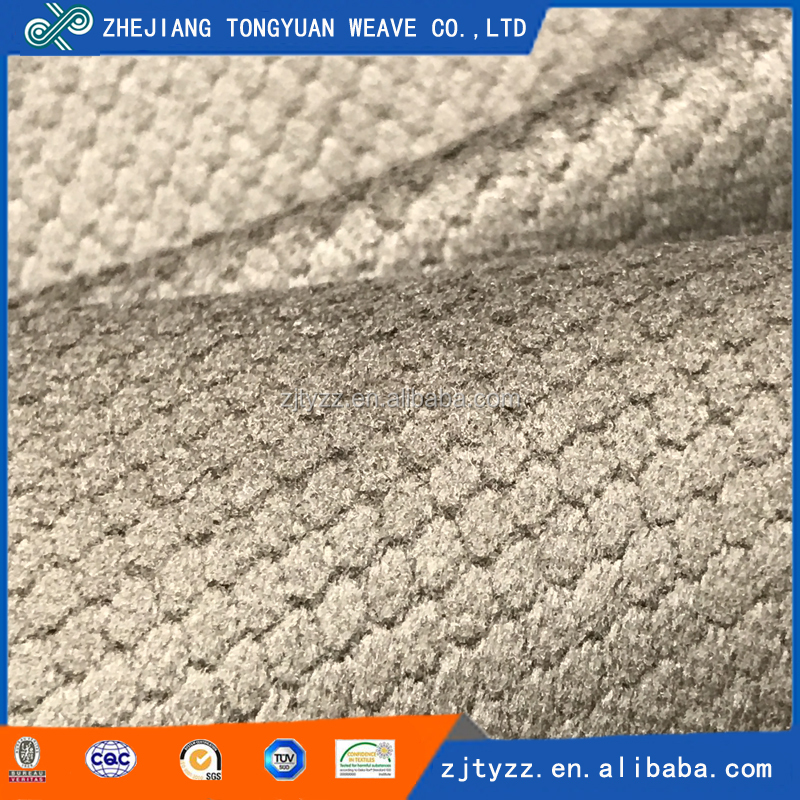 Factory supply embossed types of sofa <strong>material</strong> 100 polyester fabric