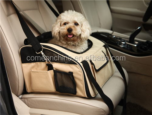 Foldable car pet booster seat carrier