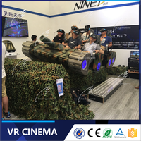 2016 High Quality VR Cinema Equipment 9D Cinema Video Game Simulator VR 12D Movie thertre