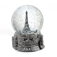 Newest design eiffel tower paris city souvenir resin mini 3d custom snow globes wholesale