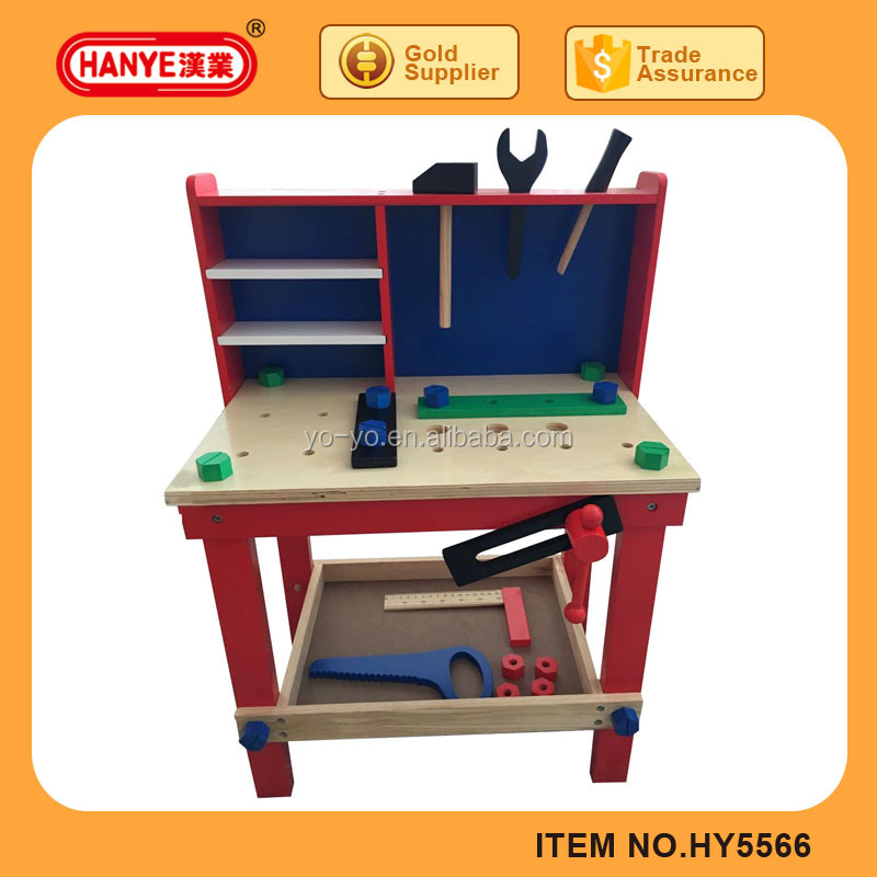 HY5566 Assembly building block wooden tool sets toys for kids