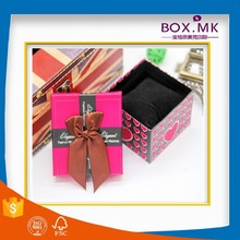 Beautiful Top Sale Best Quality Special Design Pink Ribbon Watch Box Paper