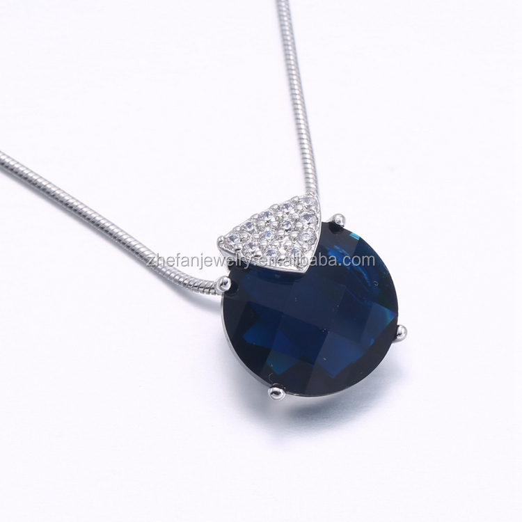 Factory price Sapphire real cubic zirconia round shape stone