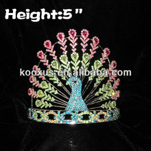 Pageant Crystal Peacock Crowns Wholesale