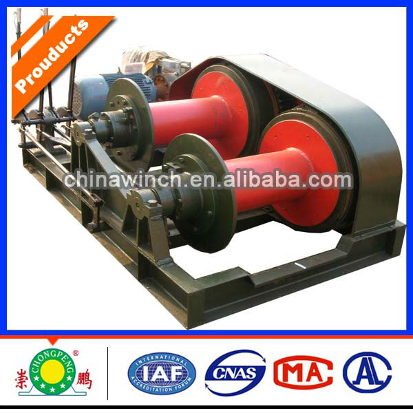 Hand control double drum electric winch