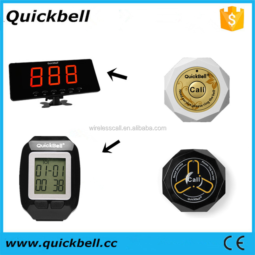 Quickbell Manufacturer of wireless calling system high-end coaster pager waiting for number calling