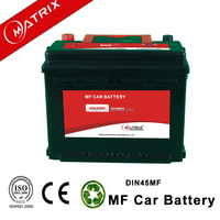European Standard Matrix DIN45MF smf car 12V 45ah vehicle automotive battery
