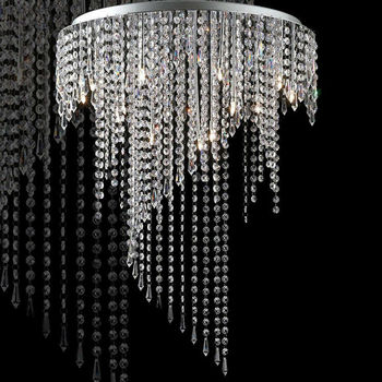 Modern crystal raindrop chandelier pendant light