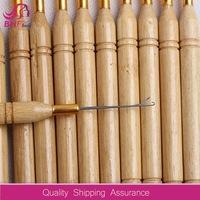 Wooden Handle Pulling Needle/Micro Rings/Loop Hooked Crochet Needle Weaving Hair Extensions Tools