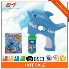 Hot selling kids electronic led fish bubble gun toy for sale