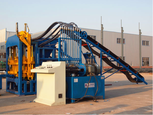 QT4-15 Cement limestone clay slag hollow paver brick making concrete block machine manufacturers in india