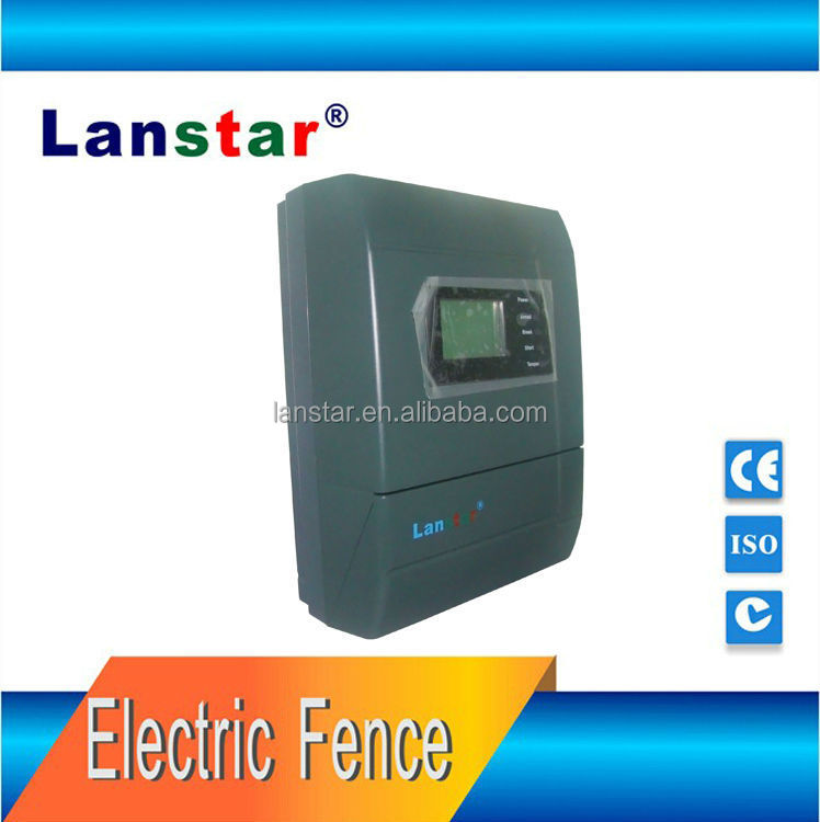 Lanstar high quality anti-cut electric fence energizer for perimeter protection intrusion alarm system,support solar charge