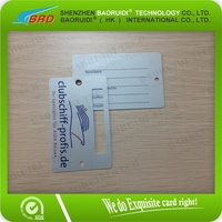 contact information plastic ID bag tag with clear loops