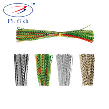 Professional fishing lure jig banded chrome skirt tool material