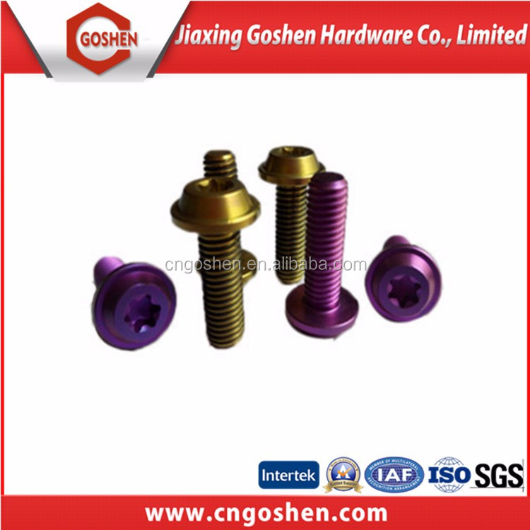 Color zinc-plated Titanium decorative bolt