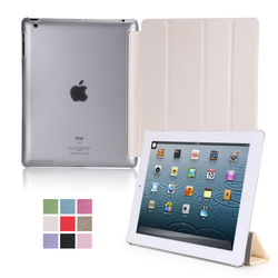 Factory Outlet PU Silken Pattern Smart Magnetic Flip Cover Case for iPad 2 for iPad 3 for iPad 4
