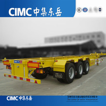 Factory Price Tri-axle Skeleton Semi Trailer Used Shipping Container