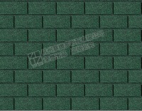 Asian Green 3 Tab Fiberglass Asphalt Roofing Shingles
