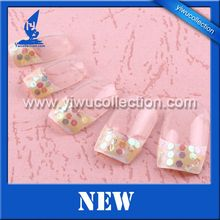 full cover natural artificial nails