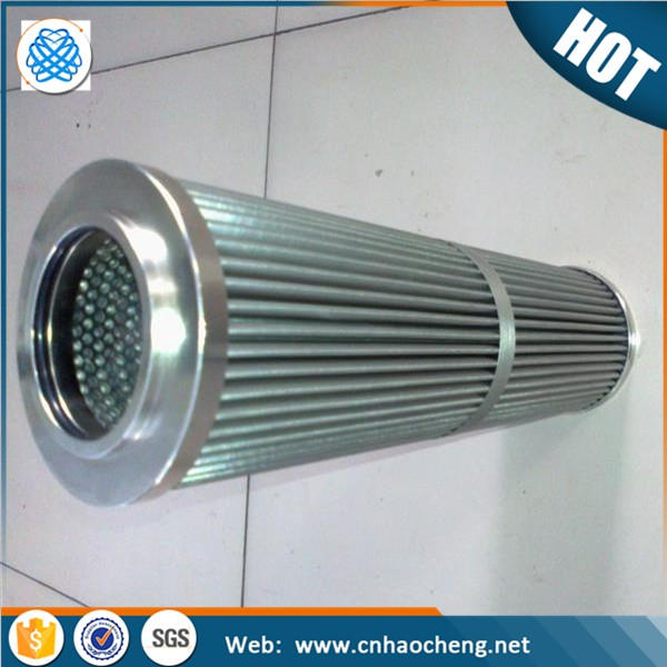 Corrosion resistance Multi Layers Folded Filter tube Pleated Oil Filters Element With Glass Fiber Filter Media