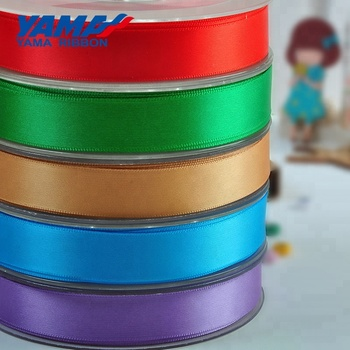 YAMA 100% polyester personalized double faced satin ribbon for bows
