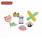 Boosin Metal Alloy Clothing accessories wholesale custom lapel pin badge soft / hard enamel pin custom enamel pin