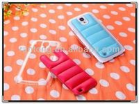 wholesale 2014 new design leather+pc mobile phone case for samsung galaxy s4 9500 case