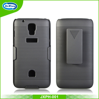 New trend plastic material cell phone holster case for Huawei G527 with kickstand