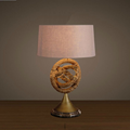 Antique iron led table lamp for bedroom decor