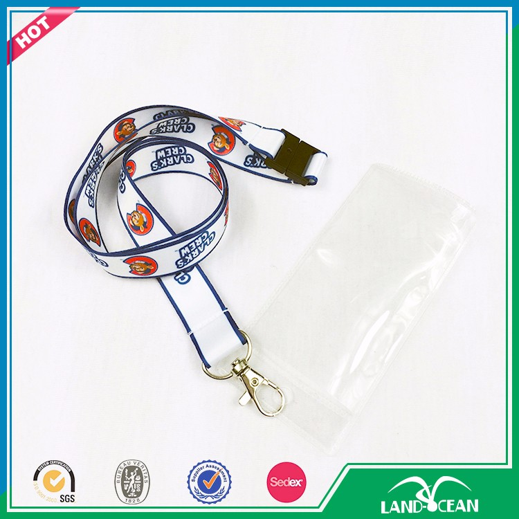 High quality white colour lanyard plastic ticket holder