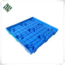High Quality 9 legs Small HDPE Defence Water Light Duty Single faced Plastic Pallet
