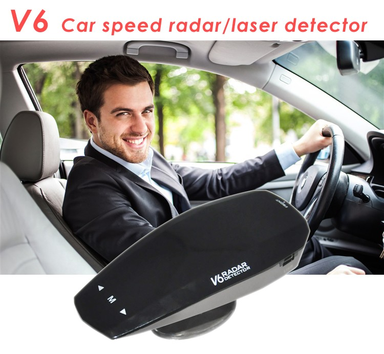 Original ANW Radar Car Anti Speed Gun Radar Detctor V6 with Full Band 360 Degree Russian/ English