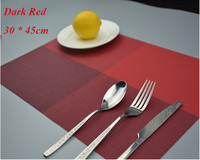 PVC Placemat for Table Heat Insulation Stain-resistant Kitchen Placemat Woven Plastic Table Mats