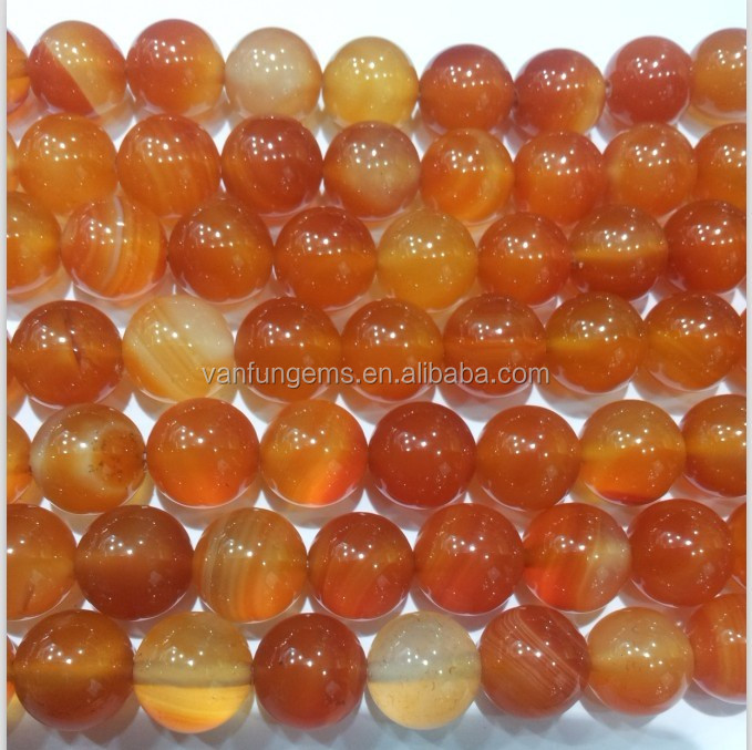 Wholesale natural red Agate Round Bead With Competitive Price