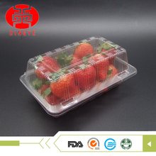 Disposable clear disposable fruit takeaway plastic food container for packing