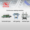 Continuous plastic sealing machine with ink printing