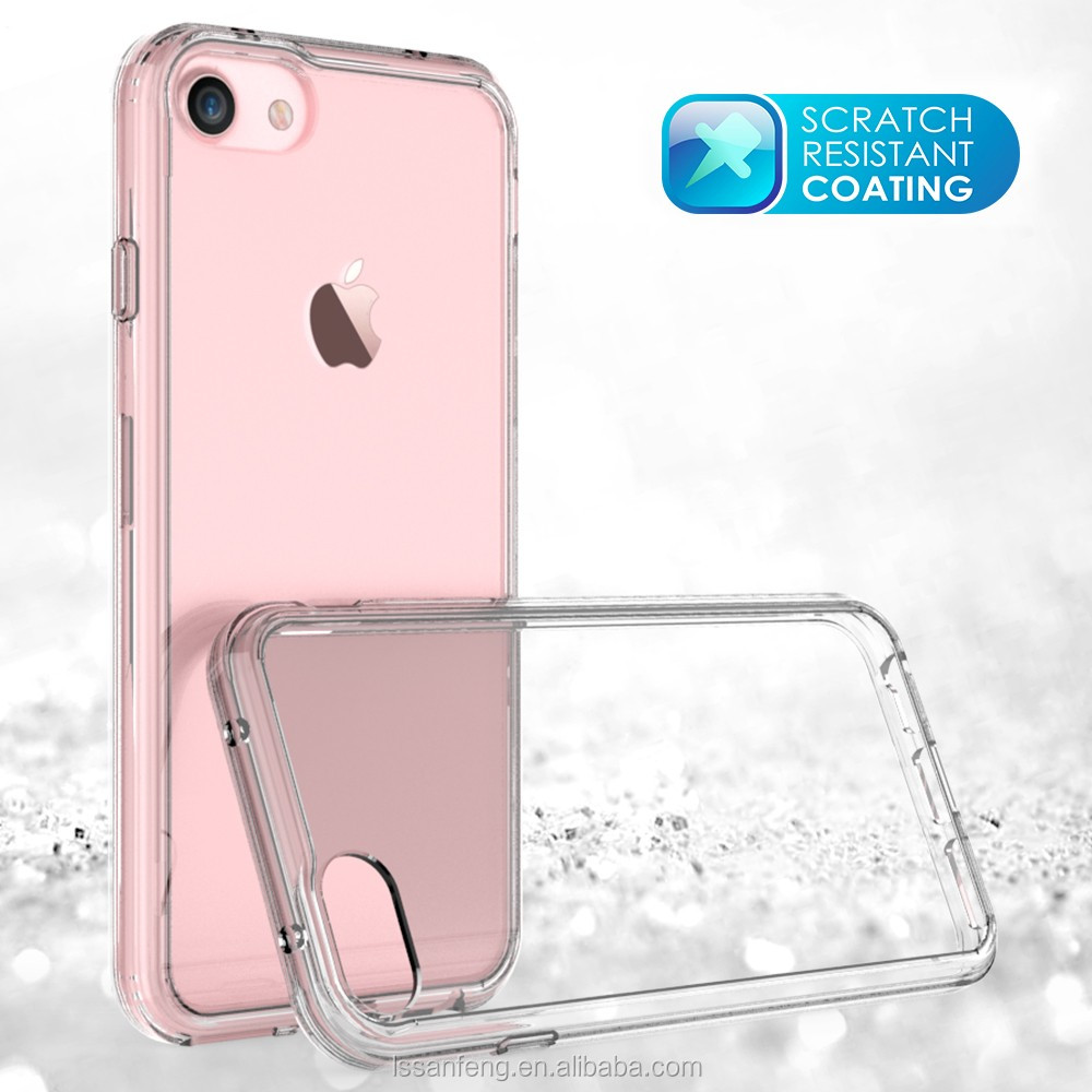 Factory Wholesale Hard PC Bumper TPU Clear Case for iPhone 7 Mobile Phone Case