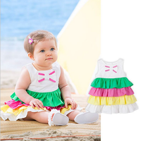 Baby Girl Dress Summer Adorable Girls Dress Candy Color Dress