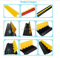 Factory Directly sale 1,2,3 and 5 channel flexible rubber cable protector cover
