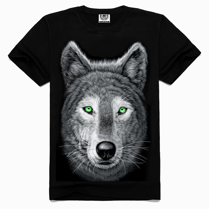 3D wolf bulk wholesale clothing,men's clothing,clothing