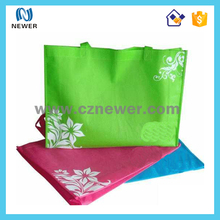 Promotional fashion laminated folding non-woven shopping bag with your logo