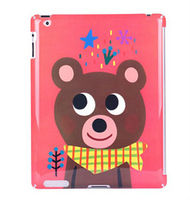 for Apple ipad 2/3/4 case cute cartoon animals case lovely forest series plastic case