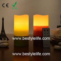 Home decorative party three layers distressed color LED wax candle
