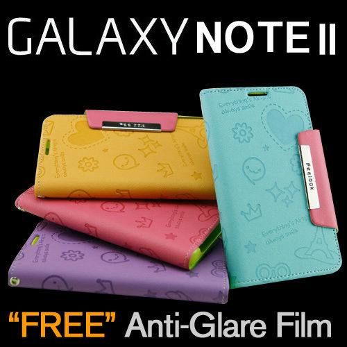 Samsung Galaxy Note2 GT-N7100 Feelook Pattern PU Leather Wallet Phone Case