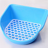 Pet Rabbit cage cleaning toilet plastic Supplies rabbit cage mats